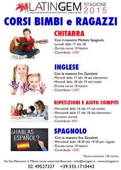 Corsi di Chitarra - Inglese - Spagnolo  Ripetizioni e Aiuto Compiti