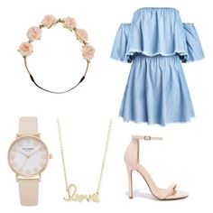 """""""Denim flowers"""" by iguessits-emi on Polyvore featuring Liliana, Carole and Sydney Evan"""