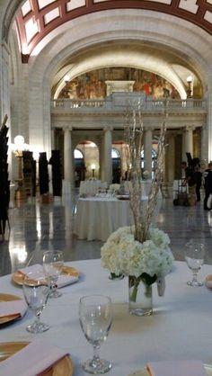 White & gold hydrangea  Blush Custom Weddings