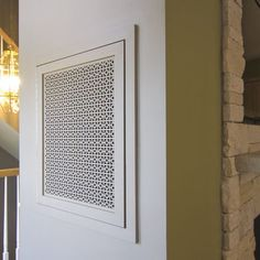 """Spend $30 to make your home look like a million"" with air conditioning and return air grille covers from patterncut.com"