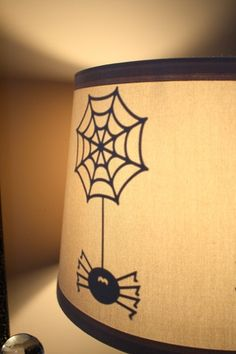 Halloween lampshade - would be cute with the spider sitting in the web too.
