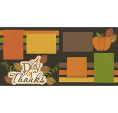 A Day Of Thanks Page Kit