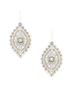 Silver Beaded Drop Earrings from Miguel Ases Jewelry on Gilt