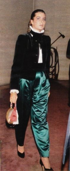 Princess Caroline of Monaco at Théâtre des Champs Élyseés.October,1979 .