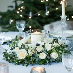 Winter weddings need plenty of lights. It will be quite romantic to have a whole winter wedding if it's planned well. If you're planning a wedding in the winter, this can offer you a chance for unique decor that is… Continue Reading → Winter Wedding Decorations, Wedding Table Centerpieces, Wedding Themes, Table Decorations, Wedding Ideas, Wedding Inspiration, Paper Flower Wall, Flower Wall Decor, Table Rose