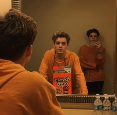 Reece Bibby and Blake Richardson doing their best tangerine impressions New Hope Club, A New Hope, Blake Richardson, Reece Bibby, The Vamps, Good Looking Men, To My Future Husband, Cute Guys, Celebrity Crush