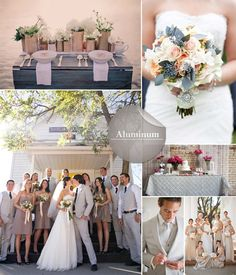 Pantone Colors Confirmed for Fall 2014 Wedding Trends Think radiant sparkly tones of aluminum and this color will win you over. This color will work well closer to Xmas or perhaps zest the color up with Misted yellow for September and October months.
