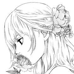christmas manga line art - Google-haku