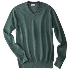 Men's Cotton Cashmere V-neck Sweater - $25.48