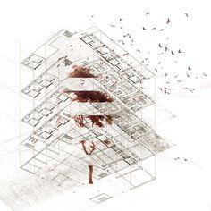 Sheltered Housing, Aberdeen by David Fleck, via Behance