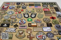 Post image for Running Out of Room for Your Morale Patches? Make a DIY Morale Patch Display Frame! Army Patches, Tactical Patches, Tactical Gear, How To Make Patches, Custom Patches, Morale Patch, Frame Display, Displaying Collections, Diy And Crafts