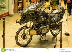 Exhibition Transformer- motorcycle made of machine parts,