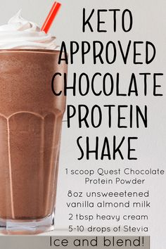 Keto approved Chocolate protein milkshake!