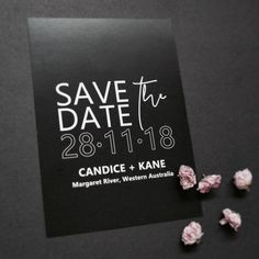 N O I R  E T  B L A N C 》 one of our NEW ready to order Save the dates... ✒#savethedate #noiretblanc #whiteinkonblack #weddingstationery #invitations #weddinginvitations #bridetobe #perthbride #invitingsmadeeasy #event #weddinghour #design #theweddingnetwork #bestperthweddings  #perthwedding #bride #invites #waweddings  #paper #engaged #shesaidyes #gettingmarried #engagedlife