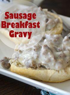 Easy Breakfast Sausage Gravy Recipe - surprise your family with breakfast! #breakfast