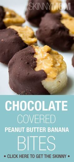 Yummy chocolate covered peanut butter banana bites!
