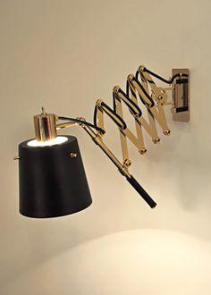 pastorious fixture adjustable swing arm functional retractable reading sconce unique lamp