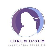 A creative template for a beauty fashion logo. A simple background with an illustration and purple text displaying the name of the company. Simple Backgrounds, Logo Templates, Lorem Ipsum, Fashion Beauty, Hair Beauty, Purple, Creative, Illustration, Grief