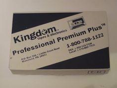 100 New Kingdom Professional Premium Plus Blank Cassette Tapes White Old Stock