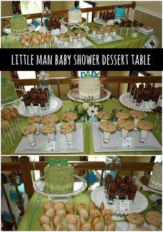 Little Man Boy Baby Shower Dessert Table Ideas