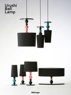 Urushi Ball Lamp Series 伝統工芸のうるしをデザインに採用したランプシリーズ