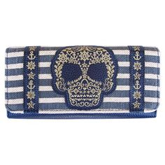 Style Addiction - Loungefly Sugar Skull Striped Nautical Wallet, $29.99 (http://www.styleaddiction.com/loungefly-sugar-skull-striped-nautical-wallet/)