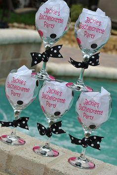 Personalized Wine Glasses Decorated Wine Glasses, Painted Wine Glasses, Bachelorette Weekend, Bachelorette Parties, Diy Wedding, Dream Wedding, Wedding Ideas, Personalized Wine Glasses, Wine Glass Charms