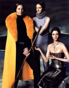 Versace Fall 1998   Maggie Rizer, Audrey Marnay & Sunniva Stordahl by Steven Meisel