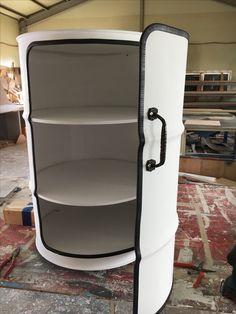 Custom Oil drum cabinet