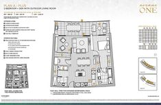 Avenue One 2 bedroom floor plan A.