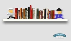8bit bookends by meninos