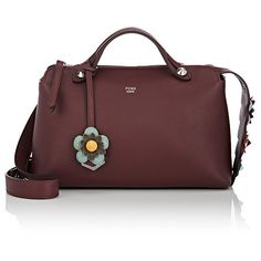 Fendi Women's By The Way Small Satchel (2,578,115 KRW) ❤ liked on Polyvore featuring bags, handbags, burgundy, fendi handbags, red satchel, burgundy handbags, red satchel handbag and red purse