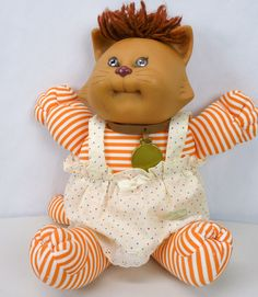 Cabbage Patch KOOSAS Pet Kitten Cat Doll 1983/1984 w/Original Clothes Baby Kitty #Coleco #DollswithClothingAccessories