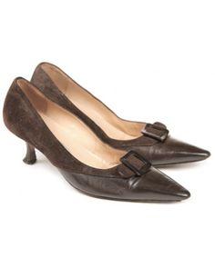 Manolo Blahnik Brown Kitten Heels Size 3   Shoes   Rokit Vintage ...