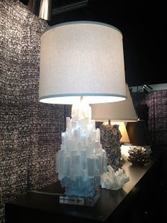 Oh how I would love this lamp! Salt Crystal Lamps, Crystal Room, Crystal Decor, Selenite Lamp, Crystal Castle, Master Bedroom Design, Retro Home, Dream Decor, Decorating Blogs