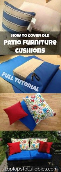 How to re-cover patio furniture cushions