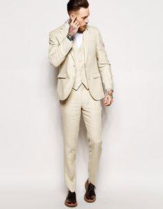 ASOS  Slim  Fit Suit In 100% Linen