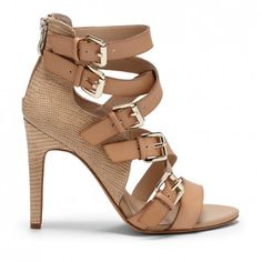 Textured High Heel Sandal