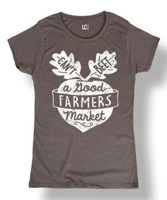 Another great find on #zulily! Stone 'Can't Beet a Good Farmers Market' Scoop Neck Tee #zulilyfinds