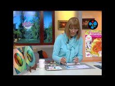 Lacas Vitrales sobre Vidrio - Liliana Ziliotto en Bienvenidas Tv - YouTube