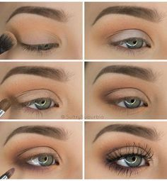 50 perfekte Make-up-Tutorials für grüne Augen 50 makeup tutorials for green eyes -Simple Pretty Eye Shadow Tutorial – amazing green eye makeup tutorials for work for prom for weddings for every day easy step by step diy guide for beautiful natural look- t Eyeshadow Tutorial For Beginners, Makeup Tutorial Step By Step, Makeup For Beginners, Beginner Makeup Tutorial, Brown Eye Makeup Tutorial, Easy Eyeshadow Tutorial, Make Up Ideas Step By Step, Natural Eyeshadow Tutorials, Simple Makeup Tutorial