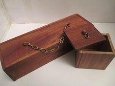 Make Memento Wooden Trinket Box Set by MakeMemento on Etsy, £15.99