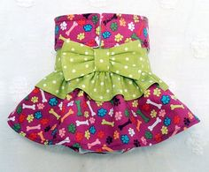 Female Dog Diaper Skirt Perfect for your dog in Season and House Training Colorful Paws Bones Dots by piddleronthewoof on Etsy