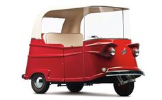 1961 Taylor-Dunn Trident. If you weren't aware, California was a weird place in the 1960s. Still is, really. But this was their idea of a car. Originally introduced as a glorified grocery kart in 1955, the three-wheeled electric runabout was called the Taylor-Dunn PG. In 1959, the Trident was introduced. It still used a one horsepower electric motor – but it also had road-going capability.