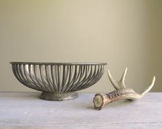 Silver Plate Oval Basket Bowl / Oblong Bread Fruit Basket Bowl / Mid Century Modern Decor / Holiday Centerpiece