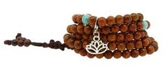 Bodhi Mala with Turquoise Spacer Beads