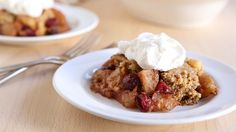 For a homey dessert that requires minimal effort, try this super-easy dump cake, made with Betty Crocker cake mix, fresh apples and tart cranberries.