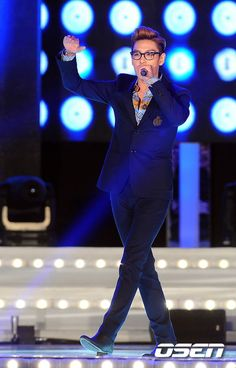 Top at K-pop Super Concert in Busan. He always lookin good with a perfect suit.