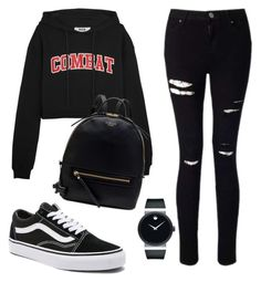 A fashion look from November 2017 featuring hooded sweatshirt, ripped skinny jeans and vans sneakers. Browse and shop related looks. Swag Outfits For Girls, Teenage Girl Outfits, Cute Comfy Outfits, Cute Outfits For School, Teen Fashion Outfits, Kpop Outfits, Teenager Outfits, Cute Summer Outfits, Grunge Outfits
