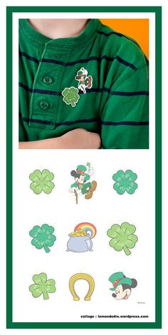 No one will be able to pinch you for not wearing green after they see these spiffy St. Saint Patrick, St Pattys, St Patricks Day, Shrinky Dinks, Fundraisers, Disney Family, Creations, Crafts, Diy